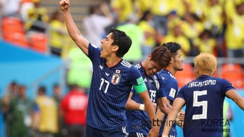 일본, 4년 만의 설욕…콜롬비아 '대회 1호 퇴장'