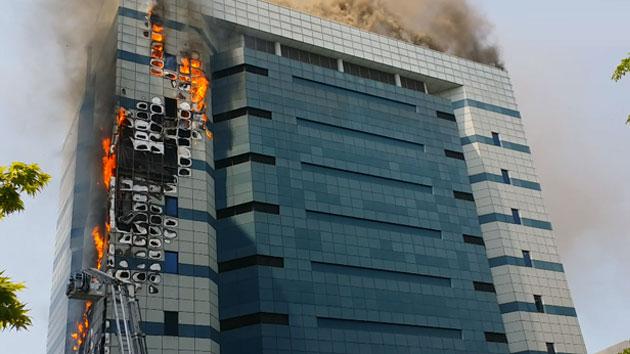 삼성 SDS 과천센터에서 큰 불...1명 다쳐