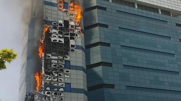 삼성 SDS 과천센터 큰 불...계속 진화 중