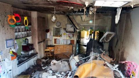 어린이집 가스 폭발…어린이 3명 부상