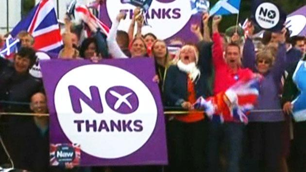 [속보] 스코틀랜드 '독립의 꿈' 무산…투표 부결
