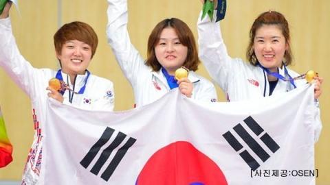 사격 단체전 우승…정경미 AG 첫 2연패