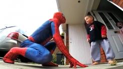암 투병 아들 위해…'스파이더맨' 변신한 아빠