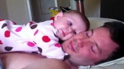 미국 아빠의 아기 재우기 노하우…'최면술?'