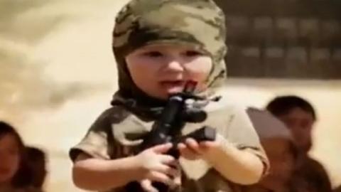 IS, 카자흐스탄 어린이 군사훈련 동영상 공개