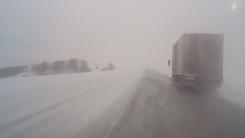 눈보라 치는 도로…예측불가·속수무책 '쾅'