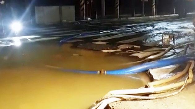 인천서 대형 상수도관 파열…주민 불편 호소