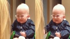 태어나서 처음 엄마를 본 '시력장애 아기'