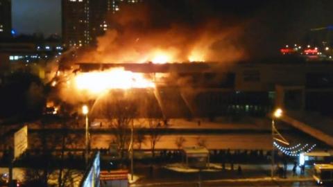 러시아 최대 도서관 불…희귀자료 '잿더미'