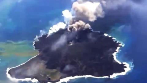 日 '화산섬'의 무서운 성장…불 뿜으며 '쑥쑥'