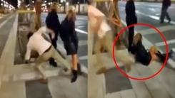 바르셀로나 건달의 '묻지마 태클'…경찰 수배