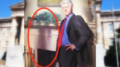 """""""클린턴 초상화에 르윈스키 숨어있다"""""""