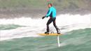 수면 위를 떠다니는 '미래의 서핑'
