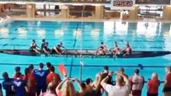 물 위에서 줄다리기…폴란드 이색 스포츠 경기