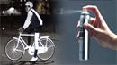 자전거 운전자를 보호하는 형광 페인트
