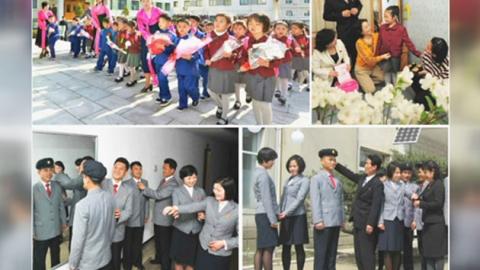 '알록달록' 북한 학생들 교복 화사해져