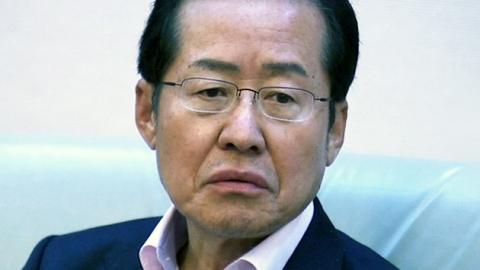 """홍준표 지사, 거취 표명 질문에 """"불쾌하다"""""""