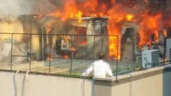 [영상] 서울 대치동 학원가 건물 옥상에서 화재