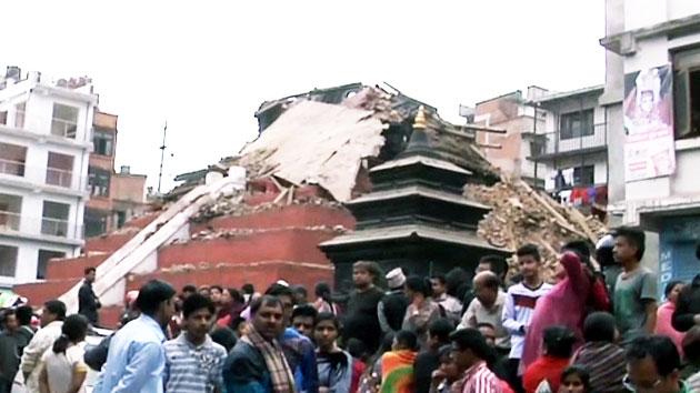 네팔 카트만두 인근 6.7 여진…추가 피해 우려