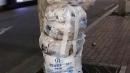 종량제 봉투 위에 쌓은 '쓰레기 탑'...