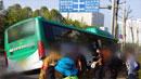 만취 승객이 버스 기사 폭행…사고로 이어져