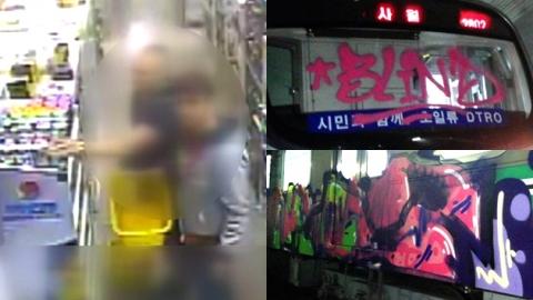 '이번에도 외국인'…낙서판 된 韓 지하철
