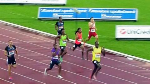 볼트, 골든스파이크 200m 우승…20초13