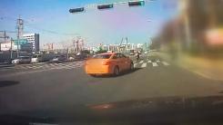 위험천만한 택시 사고