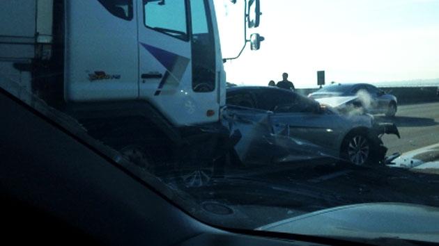 경부고속도로 10중 추돌사고…최소 7명 부상
