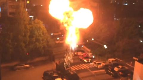 주택가 전신주 폭발…3백여 가구 정전