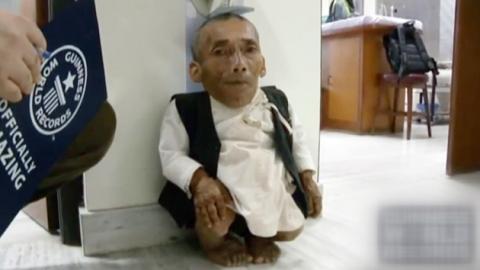 키 54.6cm '세계 최단신' 네팔 남성 사망