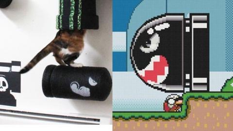 고양이가 '슈퍼 마리오' 게임에 등장한다면?