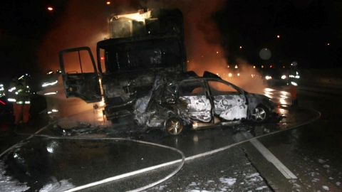 영동고속도로 삼중 추돌…1시간 동안 불