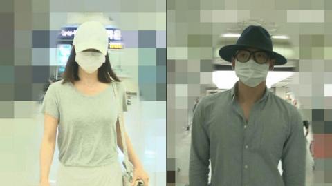 [단독]비·김태희, 제주도 여행포착…커플 마스크 패션 눈길