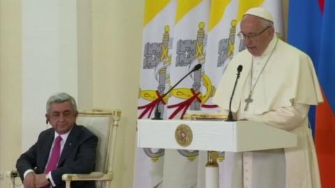 교황, 아르메니아 방문 첫날…'집단학살' 발언