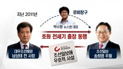 김진태 의원이 주장한 송희영 주필 향응 의혹은?