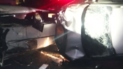 세단형 리무진과 SUV 차량 충돌...14명 부상