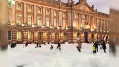 프랑스 국회 앞이 '드라이아이스 밭'으로 변한 이유