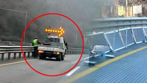위험천만한 국도 공사…허술한 안전 관리