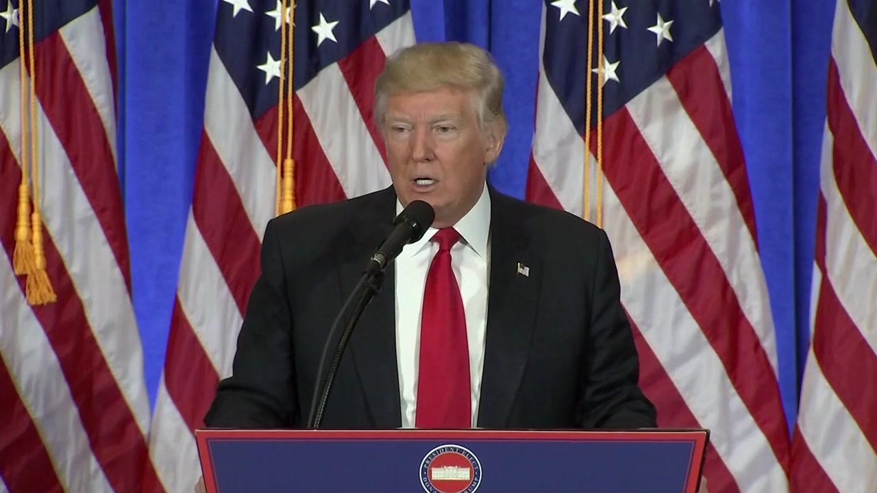 트럼프, 첫 회견에서 러시아 대선 개입 인정