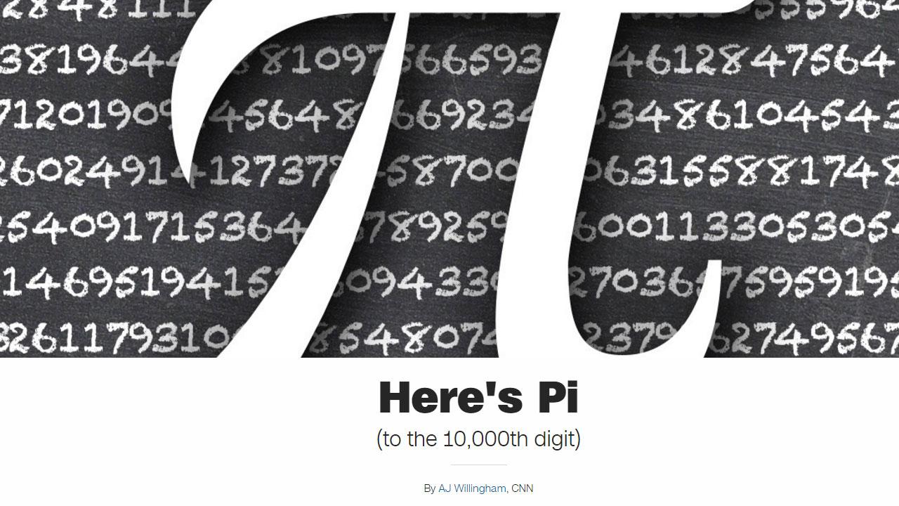 3월 14일은 세계 수학자의 '파이데이' 축제