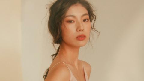 모델 한예지, 몽환적인 봄 메이크업으로 꽃 미모 발산!