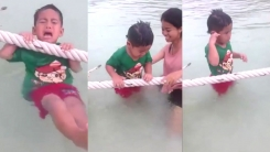 """[영상] """"살려주세요""""...아이의 물 공포증"""