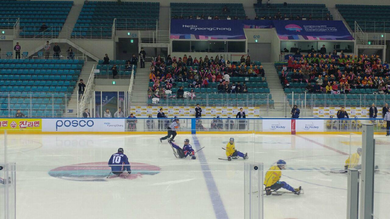한국 장애인아이스하키 대표팀, 평창 패럴림픽 진출 눈앞