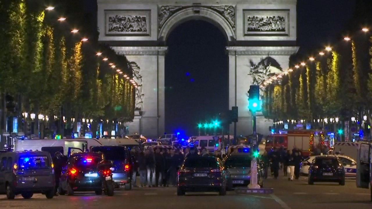 파리 샹젤리제 총격전...경찰·용의자 사망