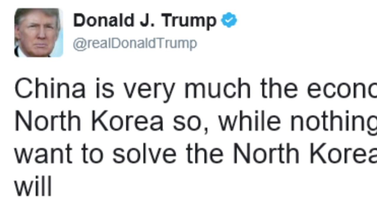 """트럼프 """"中, 北 경제 생명줄...北 문제 해결할 것"""""""