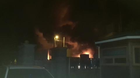 예산 배터리 제조 공장에서 불...2명 연기 흡입