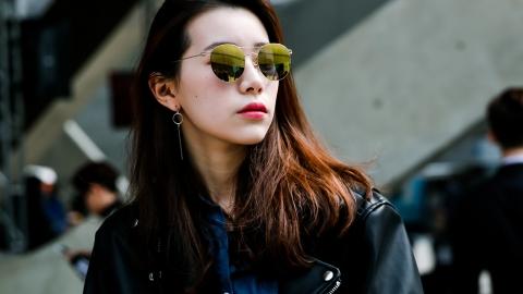 신인 모델 문소현, 트렌디한 미러 렌즈 선글라스 스타일링!