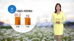 [날씨] 내일 낮 따뜻해요...미세먼지 '보통'