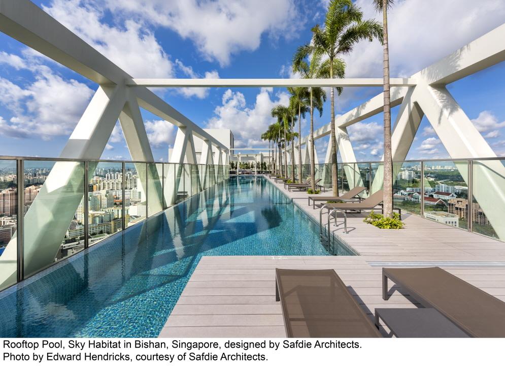 〔안정원의 디자인 칼럼〕 고층아파트 상부 하늘 위에서 공중 수영의 짜릿한 묘미를 즐기다